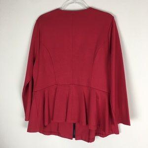 torrid Jackets & Coats - Women's Torrid Size 2 Red Peplum Zip Jacket